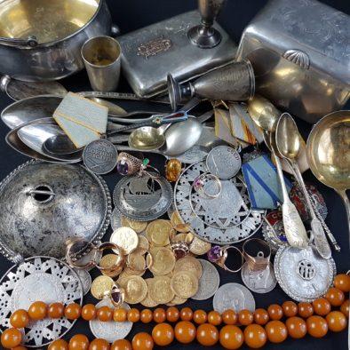 hõbedast esemete kokkuost, kuldmüntide hindamine, hõberahade hindamine